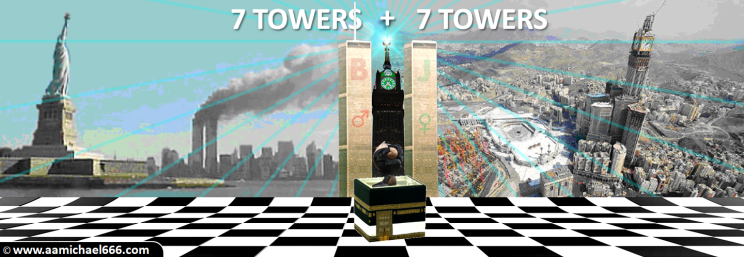 Twin Towers Sphere New York Kaaba Mecca Clock Tower Sirius Terror Attack 666