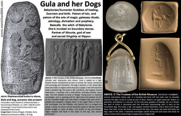 Gula and Dogs-Sirius Ninurta Magic and divination-MH17 and 11 Sept 2001 Gateway dog ritual