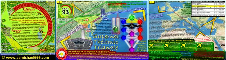 Shanksville Grove 93 Thelema Aleister Crowley Satanic