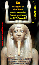 THE CUBIT Egyptian Ka Hieroglyph Pharaoh Awibre Hor - PPP-Pyramid