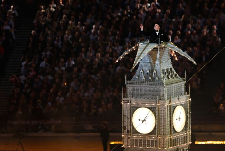 Timothy Spall plays Winston Churchill in Big Ben Clock--Reuters-Fabrizio Bensch