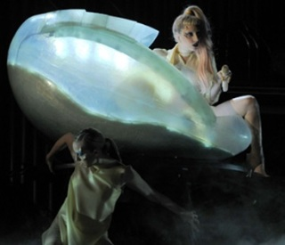 Lady Gaga--Babe of the Abyss--Crawling out of her Egg after Thelemic Incubation--Grammys 2011