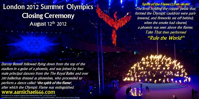 London 2012 Summer Olympics Closing Phoenix Rule The World