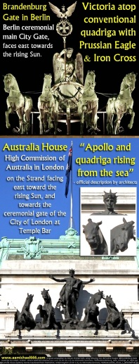 Australia House London Apollo Quadriga and Brandenburg Gate Berlin